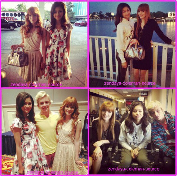 "Photos Twitter de Zendaya , Bella et Ross Lynch de ""austin and ally"" (nouvelle s�rie de Disney Channel) � l'a�roport et � Orlando ."
